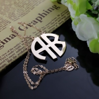 Rose Gold Monogram Pendant