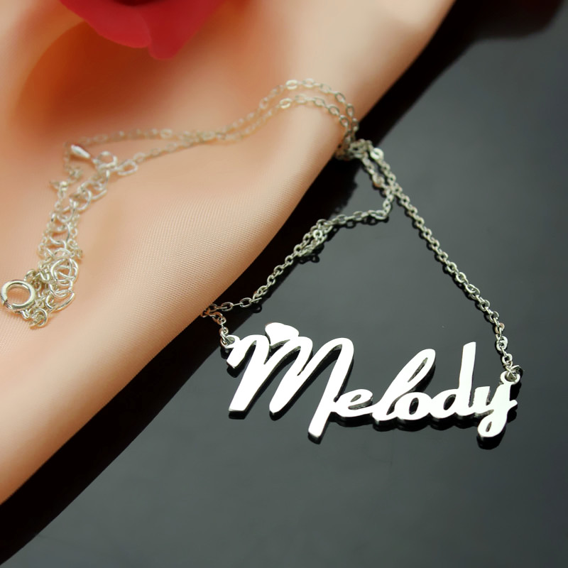 54c31a2352330 Personalized Sterling Silver Fiolex Girls Fonts Heart Name Necklace