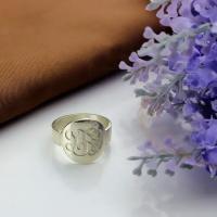 Silver Monogram Ring