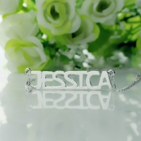 Silver Name Pendant Necklace