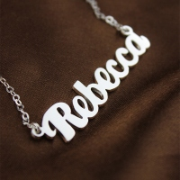 Silver Name Plate Necklace
