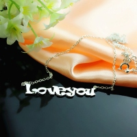 Sterling Silver Love Letter Necklace