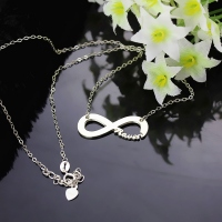 Solid White Gold Infinity Name Necklace