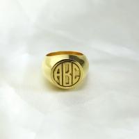 modern monogram ring