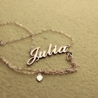 Solid Rose Gold Julia Style Name Necklace