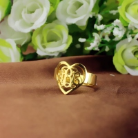 heart monogram ring