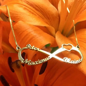 Sterling Silver exquisite Custom Engraved Infinity Name Necklace
