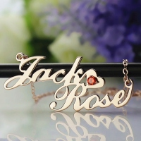 Two-Row Letter Carrie Style Name Necklace