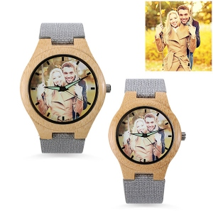 Personalized Photo Bamboo Wooden Watch