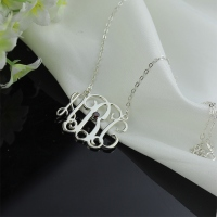 White Gold Initial Pendant