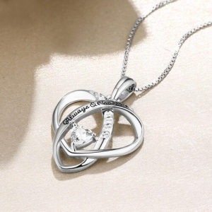 "Extraordinary Personalized ""Always & Forever"" Heart Necklace"