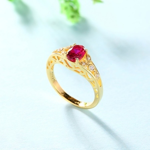 Personalised Oval Birthstone Vine Ring For Woman In Gold