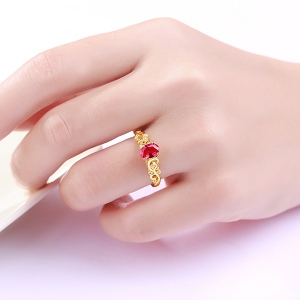 Personalized Oval Birthstone Vine Ring In Gold