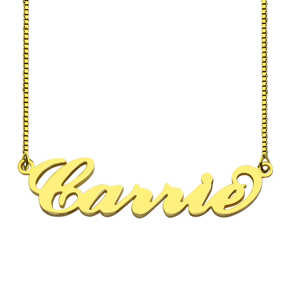 Personalized Stylish Name Necklace In Gold