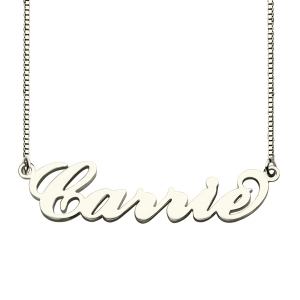 Personalized Stylish Sterling Silver Name Necklace