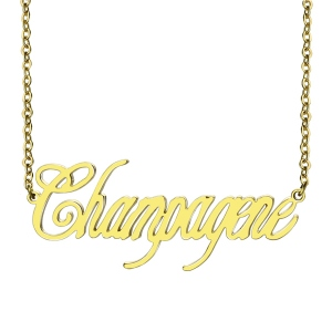 Champagne name necklace