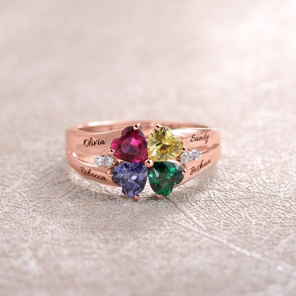 multiple birthstone ring