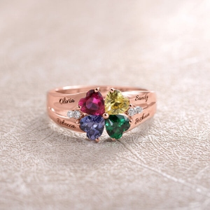 multiple birthstone ring