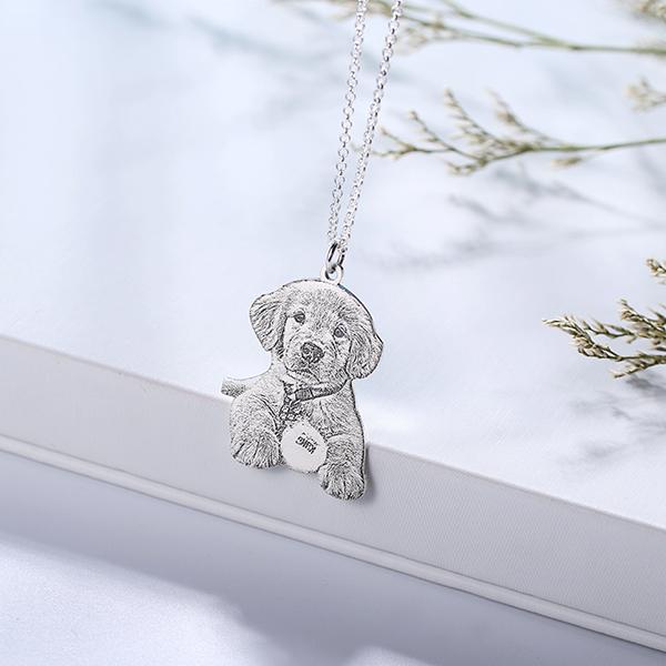 Personalisierte Haustier Foto Schlüsselanhänger & Halskette