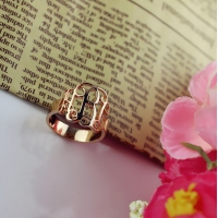 custom monogram rings