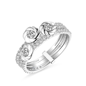 Bague Superposable-Platine 18ct/14ct/10ct