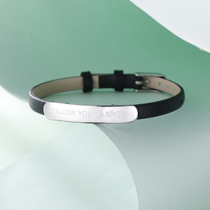 Bar Leather Bracelet