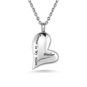 Engraved Love-Heart Keepsake Necklace For Ashes