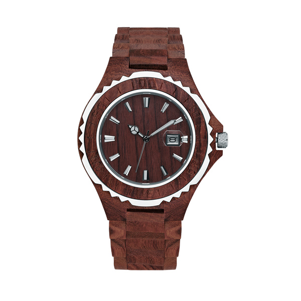 Customized Handmade Date Wooden Watch for Men