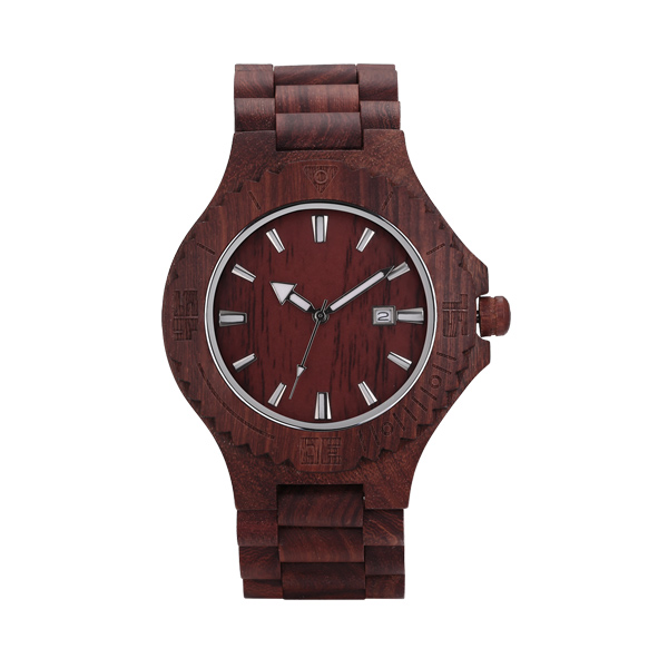 Personlized Engraved Men's Watch Wooden Date Watches