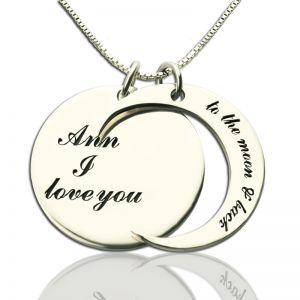 I Love You to the Moon and Back Love Necklace Sterling Silver