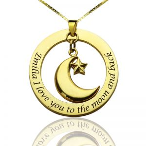 Personalized Love Necklace with Name & Phrase 18k Gold Plated