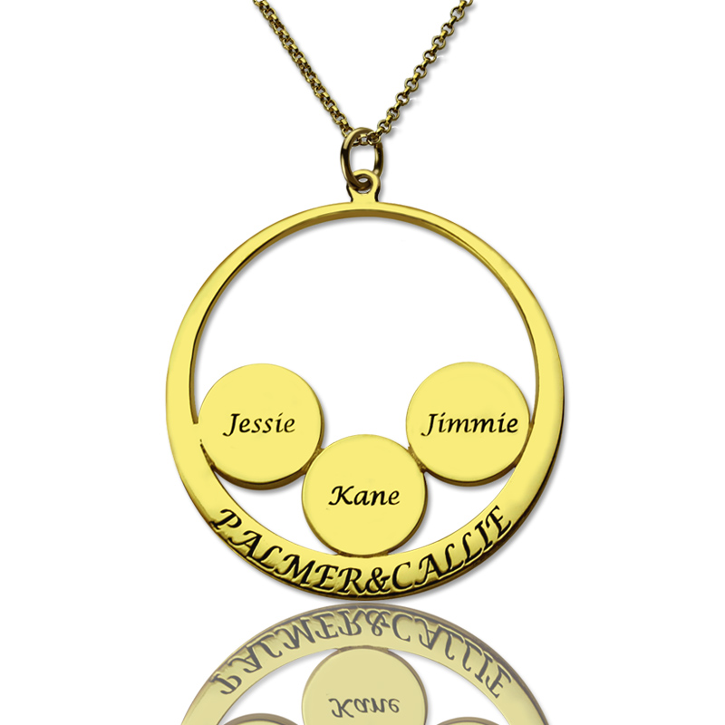 mother 39 s day necklace mother 39 s family name pendant in gold. Black Bedroom Furniture Sets. Home Design Ideas