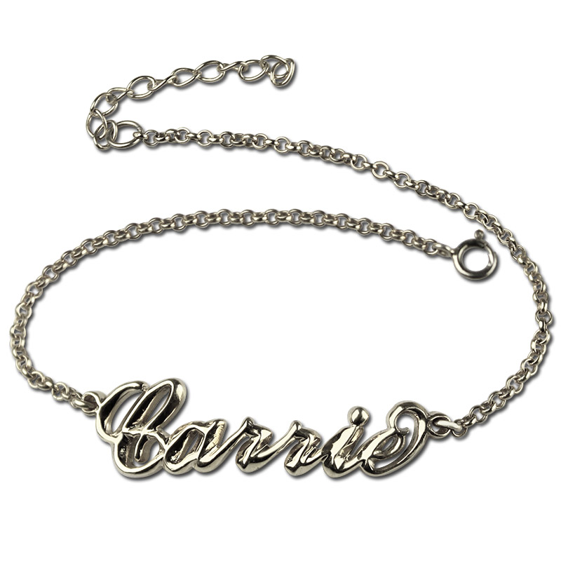 3ad10f5c812dba Sterling Silver Women's Name Bracelet Carrie Style