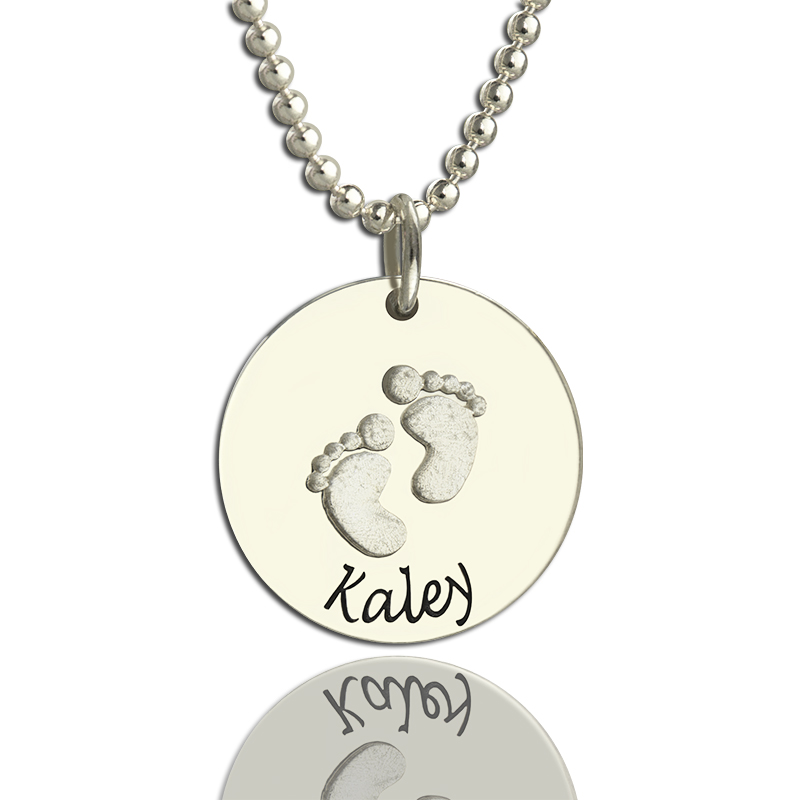 handprint necklace classic castings everlasting footprint fcln charm
