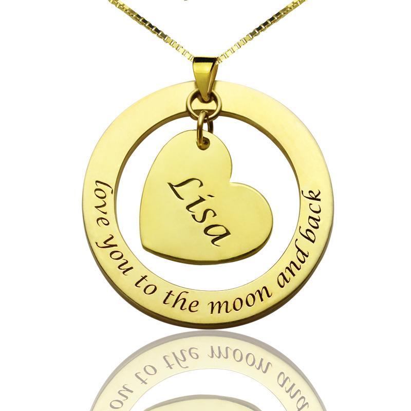 Personalized promise necklace with name phrase 18k gold plated aloadofball Choice Image