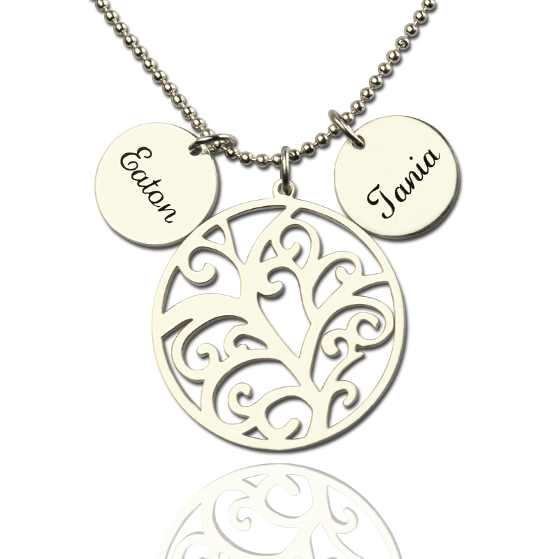 necklace family cutout personalized pendant mm jewelry tree