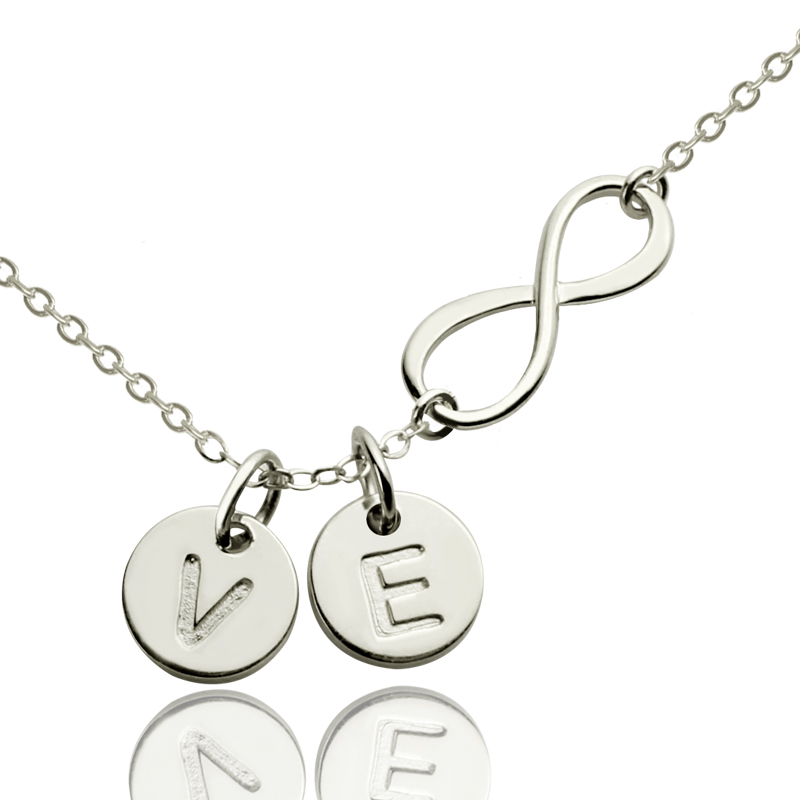 Custom Infinity Initial Necklace For Sisters Or Friends