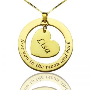 Custom I Love You to the Moon and Back Necklace