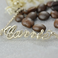 Sterling Silver Women's Name Bracelet  Carrie Style