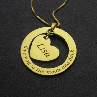 Personalized Promise Necklace with Name & Phrase 18k Gold Plated