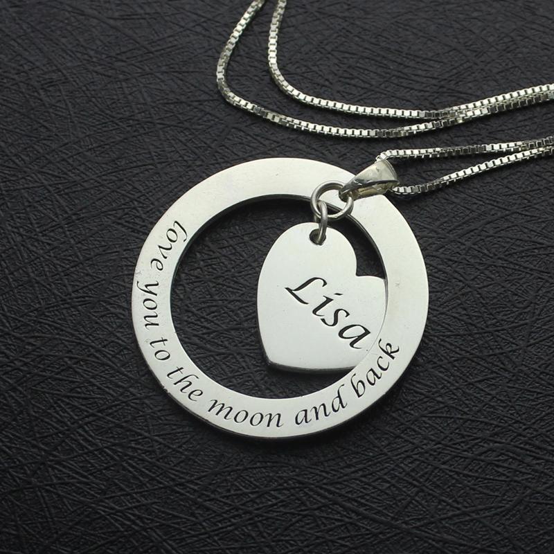 Custom Heart Inspirational Necklace For Women