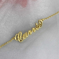 Custom Women's Name Bracelet 18k Gold Plated