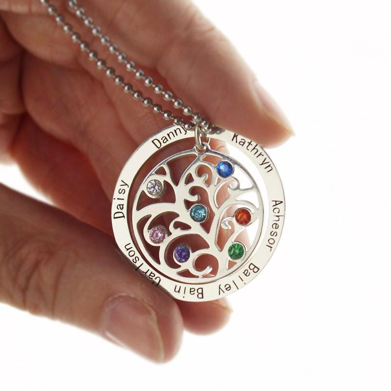 Personalized grandmas birthstone tree necklace aloadofball Gallery