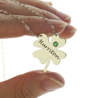 Clover Good Luck Charm Shamrocks Necklace Sterling Silver