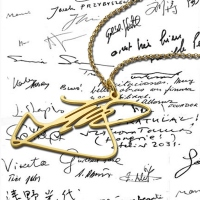 Benutzerdefinierte Halskette mit Ihrer eigenen Signatur Vergoldetes Silber