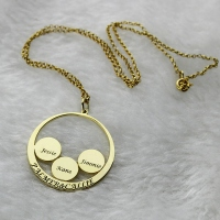 Mother's Family Name Pendant In Gold