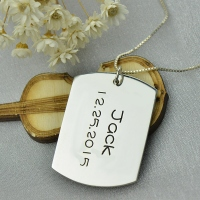 Personalized ID Dog Tag Necklace with Name