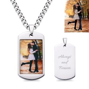 Personalisierter Schlüsselanhänger / Halskette mit  Foto in Edelstahl
