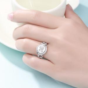 Personalisierter Runder Monogramm Ring