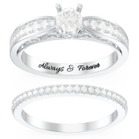 Vintage Gemstone Engagement Bridal Sets